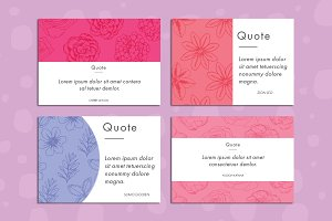 Floral quote postcards