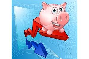 Piggy Bank Graph Concept