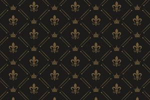 Black Royal Pattern