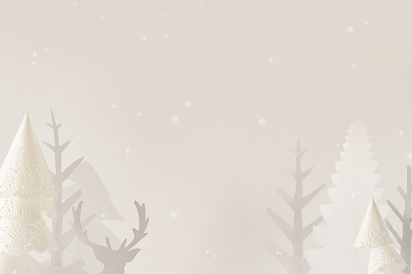 Winter White forest silhouettes