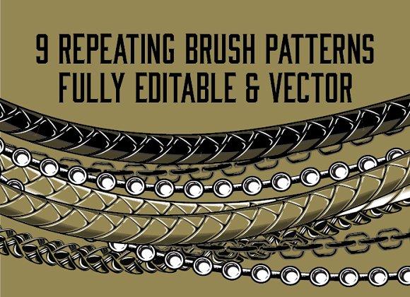 Black & Gold - Art Brush Pattern