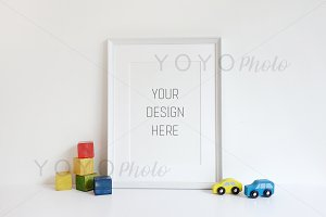 Nursery Styled White Frame Mockup