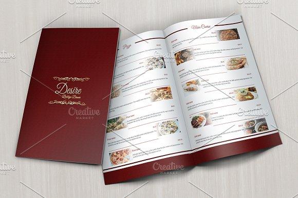 Restaurant Menu Business Card Brochure Templates Creative Market