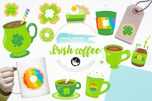 Irish coffee illustration pack