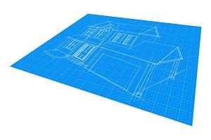 House Blueprint Drawing