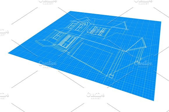 House Blueprint Drawing