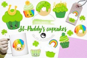 St-Patrick treats illustration pack