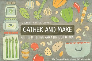 Gather & Make: A Hand Drawn Food Set