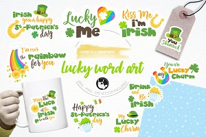 St-Patrick's puns illustration pack