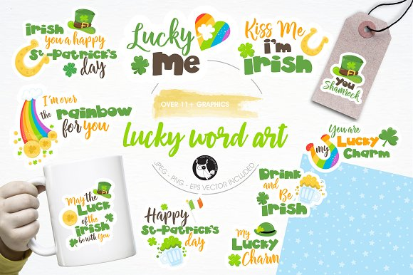 St-Patrick's Puns Illustration Pack