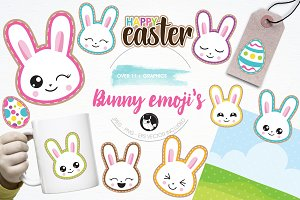 Easter emoji's illustration pack