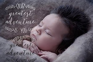 baby photo overlay, typography