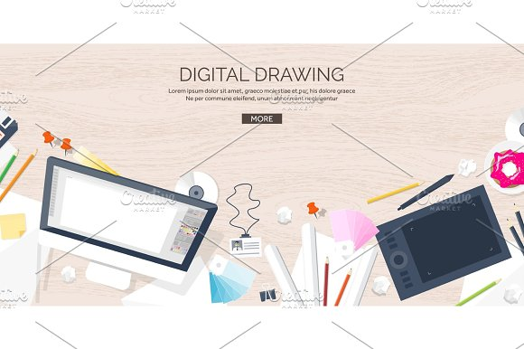 Graphic Web Design Drawing And Painting Development Illustration Sketching Freelance User Interface UI Computer Laptop Wood Texture