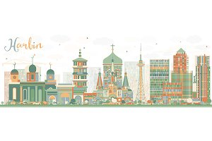 Abstract Harbin Skyline