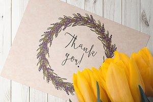 Lavender Wreath for Procreate app
