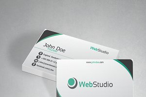 Web studio modern business card