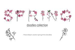 Spring blossoms doodles