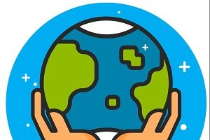 Planet Earth Icon Symbol