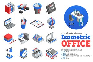 Isometric Office Tools