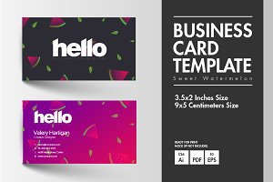 Business Card - Sweet Watermelon