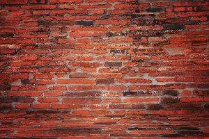 Brick red wall