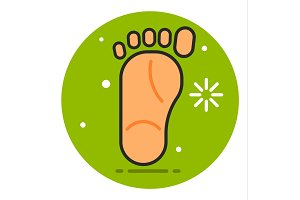 Foot vector icon