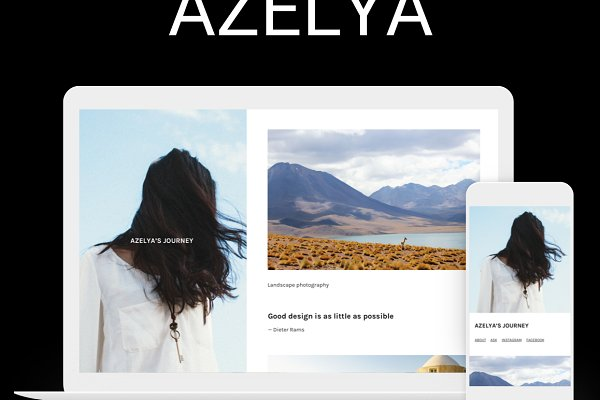 Tumblr Themes: SideThemes - Azelya Side