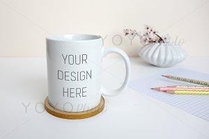Mug Mockup - Spring Styled Desktop