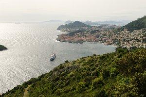 Panoramic view of Dubrovnik city