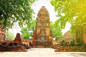 Wat Mahathat in Ayutthaya Thailand
