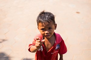 Poverty kids in Cambodia