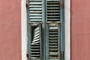 Sibenik. shuttered Window