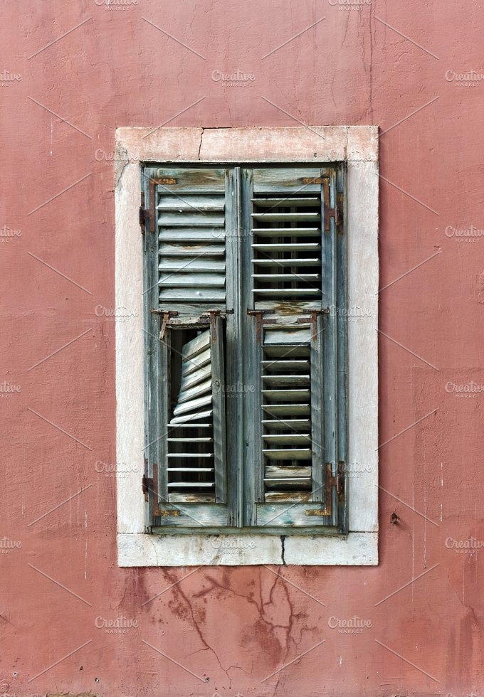 Sibenik. shuttered Window - Architecture