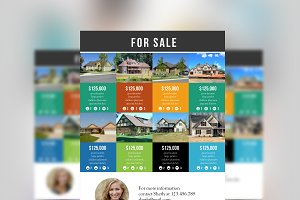 Multiple listings real estate flyer