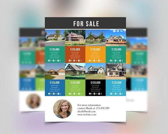 multiple listings real estate flyer flyer templates creative market