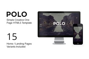 POLO - One Page Parallax Template