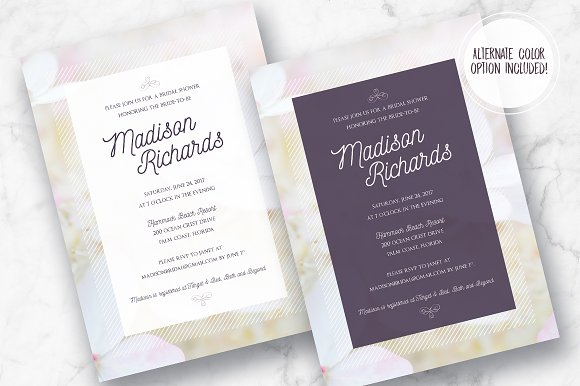 Dreamy Floral Bridal Shower Invite