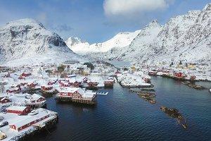 Fishing village in Lofoten