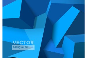 Abstract background with overlapping blue cubes