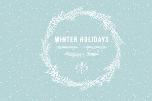 Winter holidays designer's toolkit