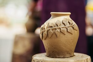 clay pot  handmade traditional