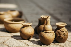 clay pot and vase handmade