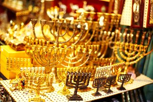 Menorah showcase at the Jerusalem