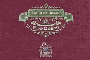 *SET* hand-drawing banners