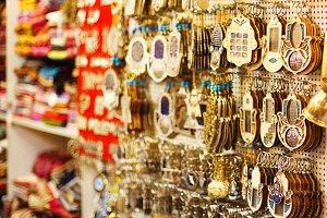 Souvenirs at Jerusalem bazaar