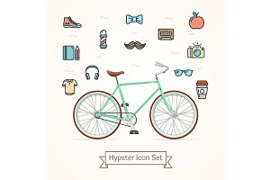 Bike and Icon Hypster Concept