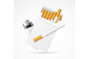 Cigarette Pack with Pocket Lighter