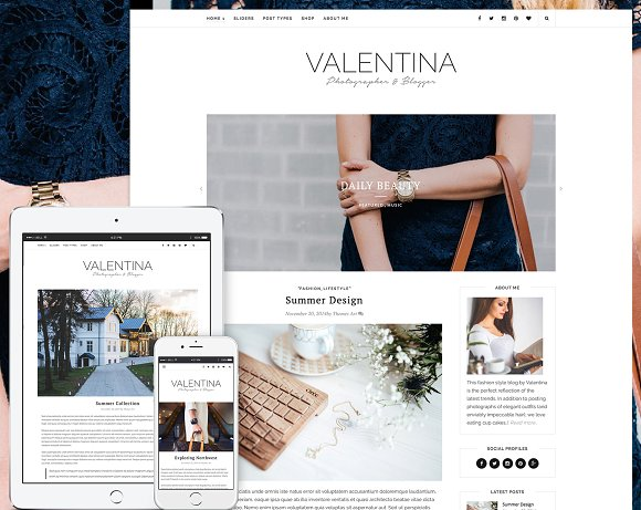 Valentina Premium WordPress Theme