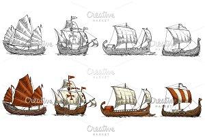 Caravel Drakkar Junk Trireme - ship