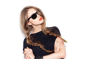 swag girl in sunglasses